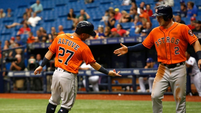 Astros Top Rangers 5-1 in Last Game Before Return to Houston