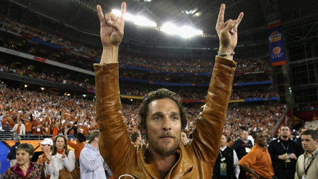 Matthew McConaughey Joins Veterans, Celebs in Red River Charity Softball Game