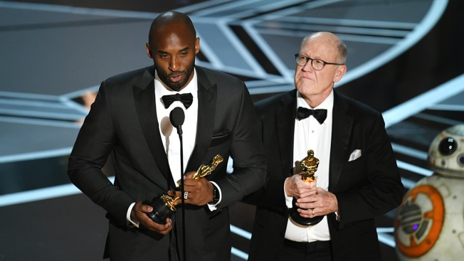 Kobe Bryant Wins Oscar for Animated Short 'Dear Basketball'