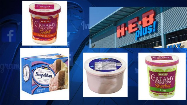 H-E-B Ice Cream Recall, Metal Pieces Possibly Inside