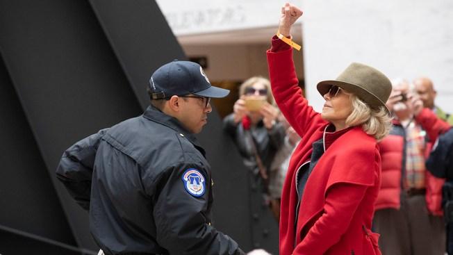 Jane Fonda Spends Night in Jail After Demonstration Arrest
