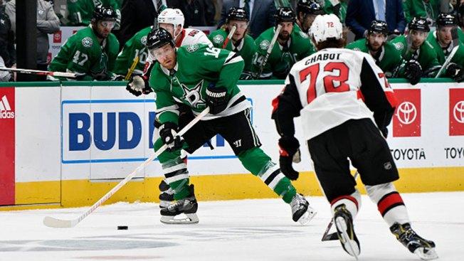 Pavelski's Power-Play Goal Helps Stars Beat Senators