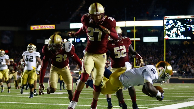 Cowboys Work Out Boston College S Justin Simmons