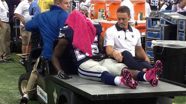Cowboys' Lee Out with Concussion, Dunbar Injured