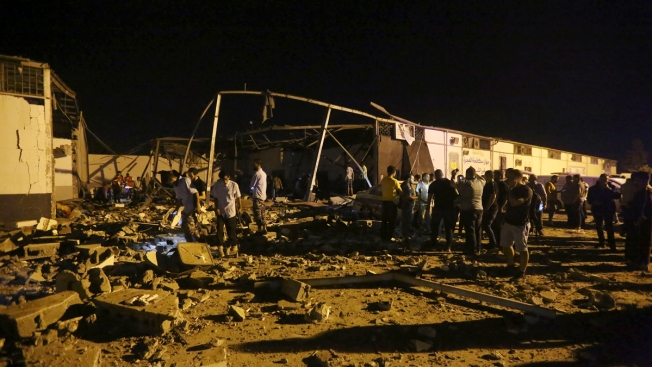 Airstrike Hits Libyan Detention Center, Killing 44 Migrants