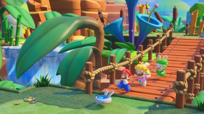 Mario Gets Help in 'Mario+Rabbids: Kingdom Battle' Video Game