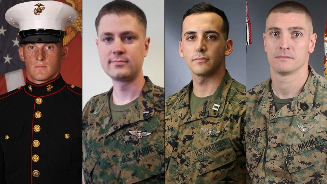 4 Marines Killed in Helicopter Crash in Calif.