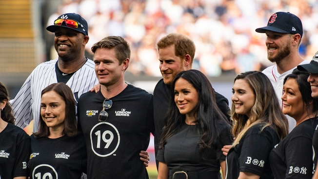 Prince Harry, Meghan Give London Baseball a Royal Launch