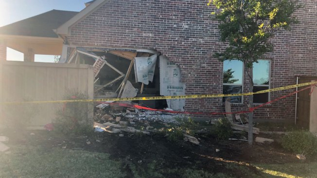 Car Crash Leaves Hole in Side of McKinney Home