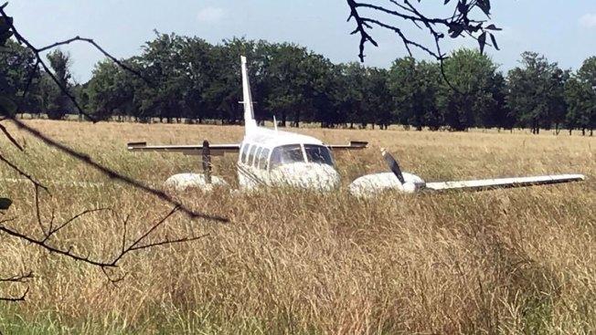 Small Plane Makes Emergency Landing in McKinney Field