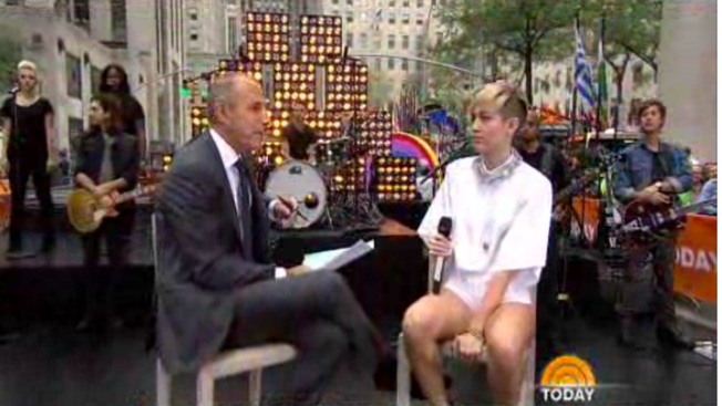 Matt Lauer Jokes About Miley Cyrus' Claim He's Too Old for Sex