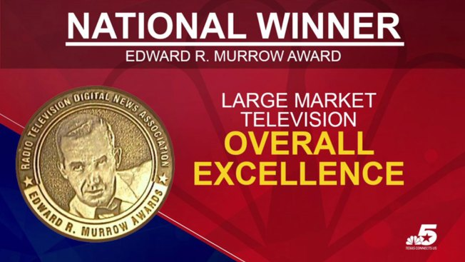 "NBC 5 Wins Four National Edward R. Murrow Awards, Including ""Overall Excellence"""