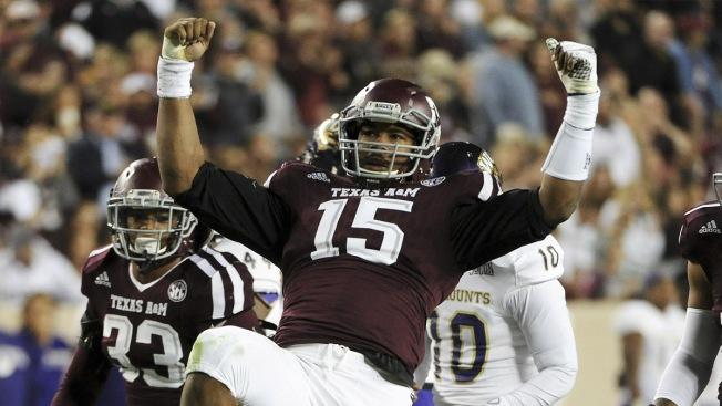 Scouting the NFL Draft: Texas A&M EDGE Myles Garrett. Getty Images