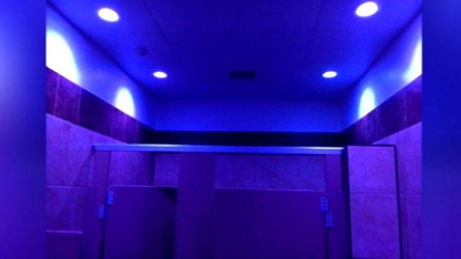 Gas Station Installs Blue Lights to Deter Opiod Use & Pa. Gas Station Hopes Blue Lights in Bathroom Can Deter Drug Use ...