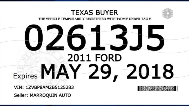 graphic about Printable Temporary License Plate Template known as TxDMV Rolls Out Fresh Purchaser Tags With Much more Stability