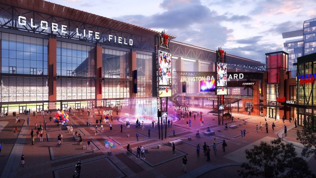 Rangers Show Off New Renderings of Globe Life Field's North Plaza