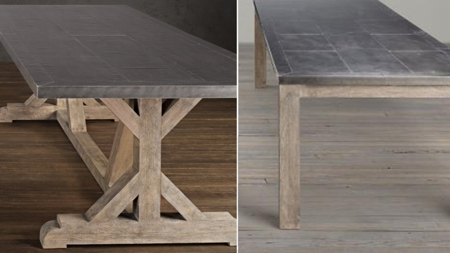 Restoration Hardware Recalls Metal Top Dining Tables Over Lead Exposure Risk
