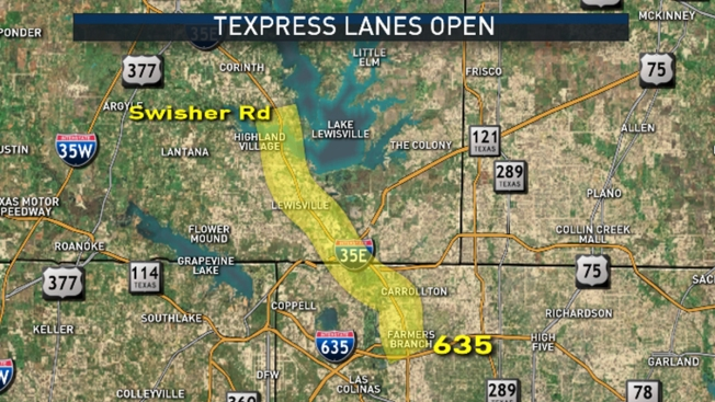 New Interstate 35E TEXpress Lanes Open