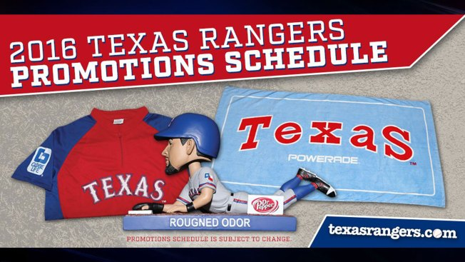 Rangers Announce Bobblehead Promotions
