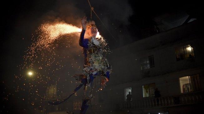 Mexicans Burn Donald Trump Effigies in Easter Ritual