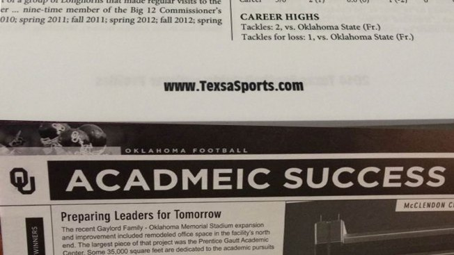 UT vs. OU: Battle of Unfortunate Media Guide Typos