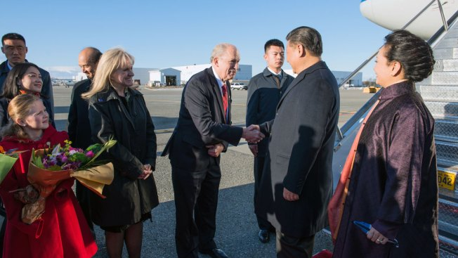 China President's Plane Stops in Alaska After Trump Visit