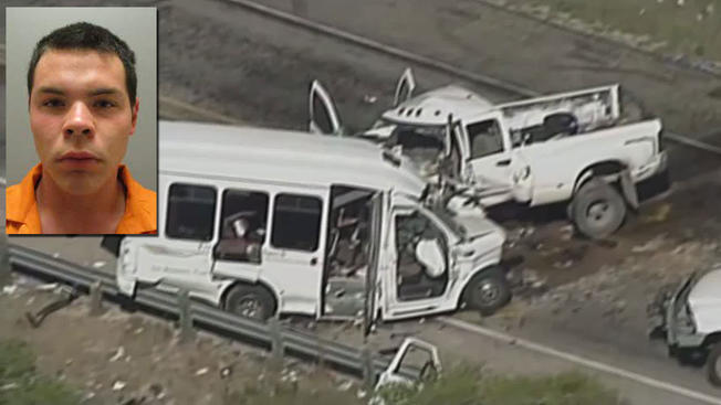 Driver Facing 270 Years for Texas Church Bus Crash Arrested for Alleged Bond Violation