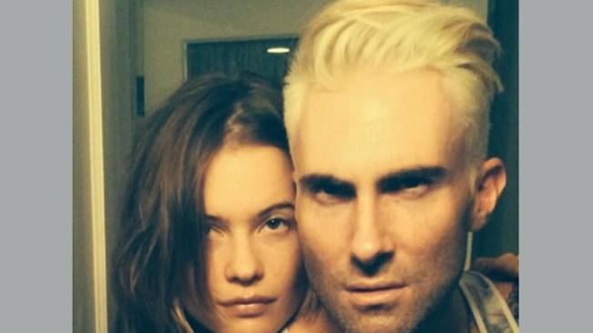 Adam Levine Debuts Crazy Platinum Blond 'Do