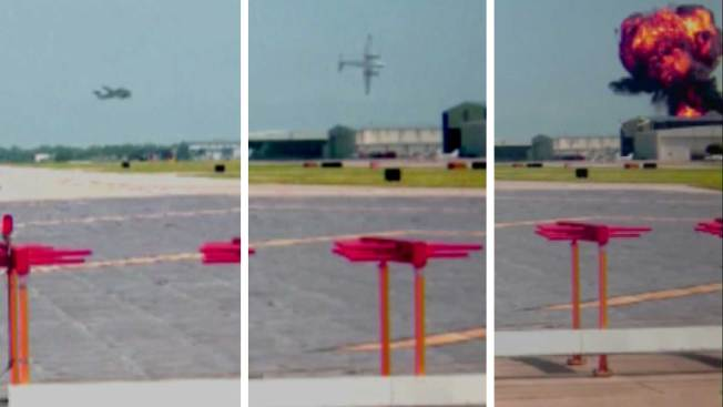 Videos Show Final Moments of Downed Plane at Addison Airport
