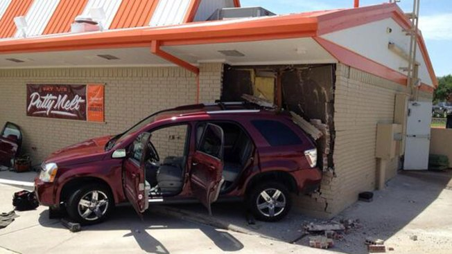 SUV Slams into Arlington Whataburger