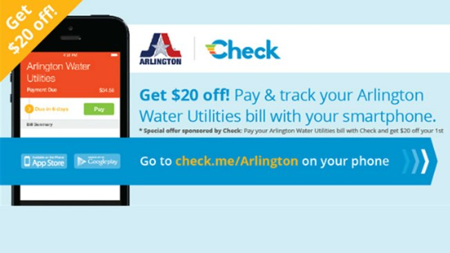 Arlington Water Department Offering $20 Credit for Paying With Smartphone
