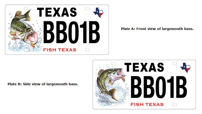 Texas Seeks Input on New Bass Conservation License Plate