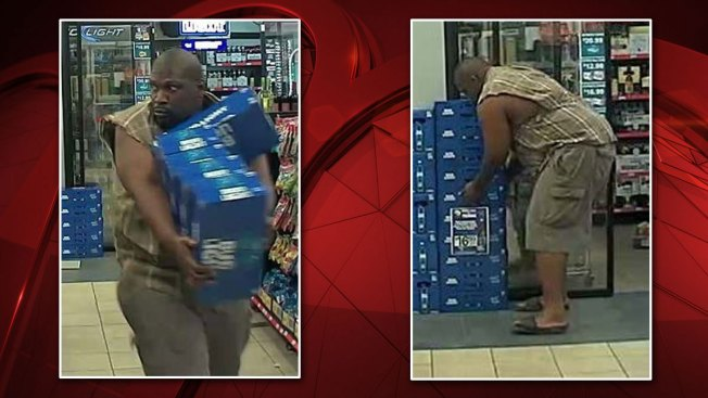Man Caught on Camera Swiping 5 Cases of Bud Light From Arlington Store