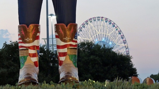 Big Tex Kicks Off 2015 State Fair of Texas in Lucchese Boots