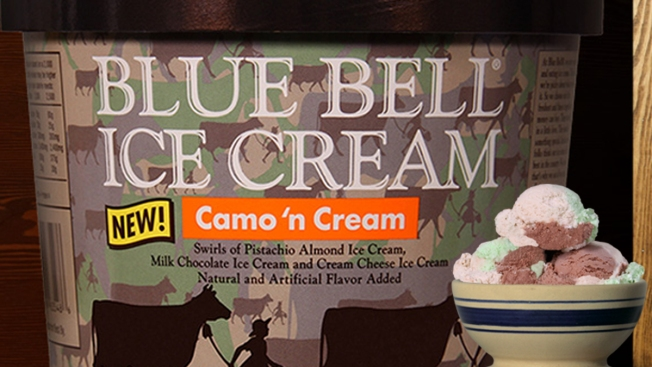 Blue Bell Announces New Ice Cream Flavor: Camo 'n Cream