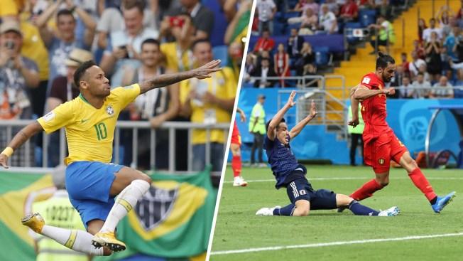 World Cup: Brazil's 2 Goals Knock Out Mexico, Belgium Beats Japan