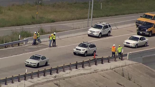 Buckled Ramp to Southbound Texas 360 Ramp Reopened