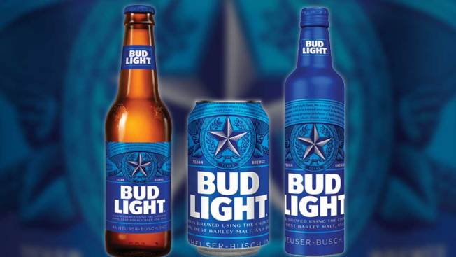 bud light texifies cans bottles sold in the lone star state nbc