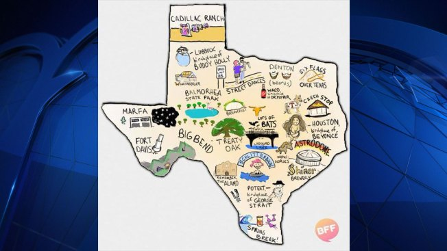 BuzzFeed Austin Releases Map Of Texas Without DFW NBC Dallas - Texa map