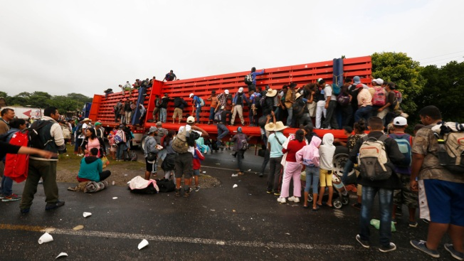 Migrant Caravan Sets Sight on Getting to Mexico City