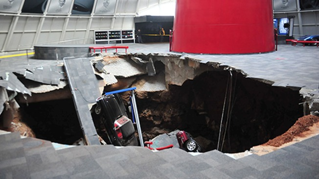 Corvette Museum to Integrate Sinkhole Into Exhibit