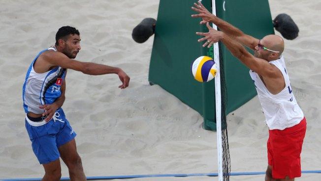 Men's Beach Volleyball: Dalhausser, Lucena Top Tunisian Duo