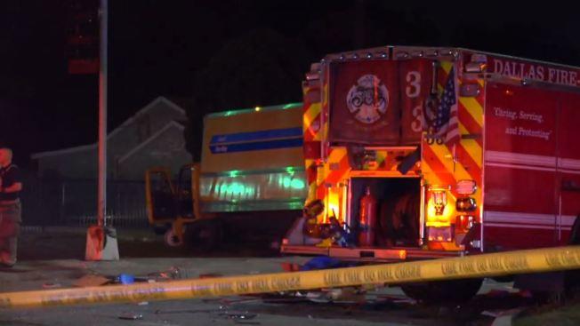 5 Injured After Crash Involving Fire Truck