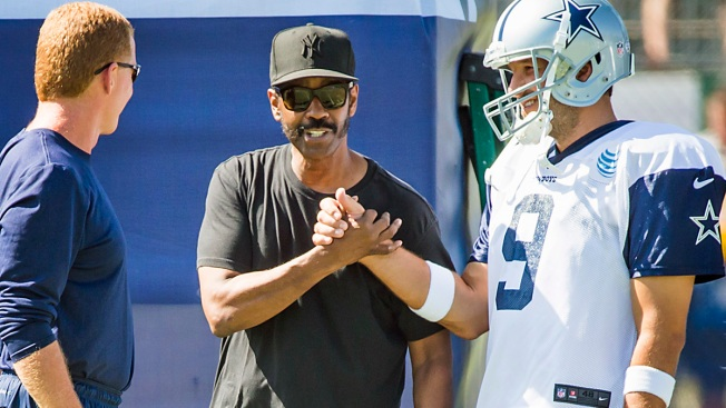 "Denzel Washington Drops By Cowboys Camp: ""This is a Dream for Me"""