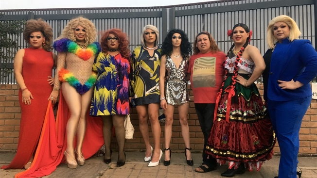 Drag Queens Protest at Border Wall for LGBTQ Asylum-Seekers