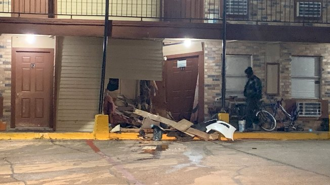 Car Crashes Into Fort Worth Motel Room, 1 Hurt