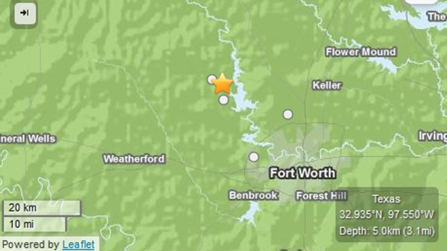 Minor Quake Shakes North Texas Towns