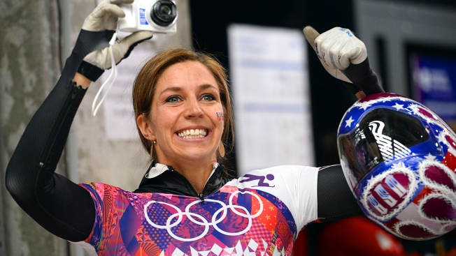 USA's Noelle Pikus-Pace Gets Silver in Skeleton