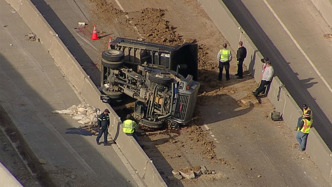 Fatal Dump Truck Crash Closes Part of North Loop 820 in North