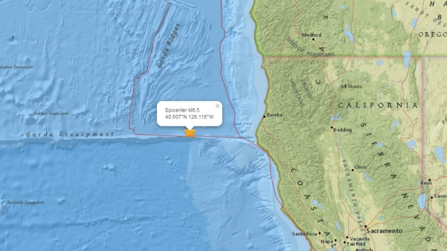 6.5M Earthquake Strikes Off Calif. Coast; No Damage